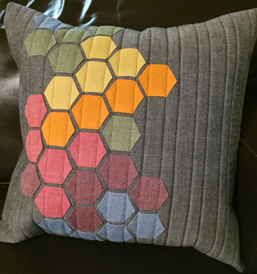 Modern Hexies Pillow